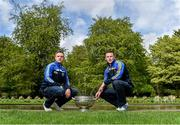 6 May 2014; Senior footballers Ross Munnelly, Laois, and Leighton Glynn, Wicklow, in attendance at the launch of the Leinster Senior Championships 2014. Farmleigh House, Dublin. Picture credit: Barry Cregg / SPORTSFILE