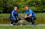 6 May 2014; Senior footballers Ross Munnelly, Laois and James McCarthy, Dublin, in attendance at the launch of the Leinster Senior Championships 2014. Farmleigh House, Dublin. Picture credit: Barry Cregg / SPORTSFILE