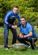 6 May 2014; Senior footbalers Ross Munnelly, Laois, and James McCarthy, Dublin, in attendance at the launch of the Leinster Senior Championships 2014. Farmleigh House, Dublin. Picture credit: Barry Cregg / SPORTSFILE