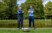 6 May 2014; Senior footballers Leighton Glynn, Wicklow, and James McCarthy, Dublin, in attendance at the launch of the Leinster Senior Championships 2014. Farmleigh House, Dublin. Picture credit: Barry Cregg / SPORTSFILE