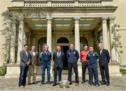 6 May 2014; Senior football managers, from left, Jason Ryan, Kildare, Jack Sheedy, Longford, Harry Murphy, Wicklow, Jim Gavin, Dublin, Mick O'Dowd, Meath, Aidan O'Rourke, Emmett McDonnell, Offaly, and Aidan O'Brien, Wexford, in attendance at the launch of the Leinster Senior Championships 2014. Farmleigh House, Dublin. Picture credit: Barry Cregg / SPORTSFILE