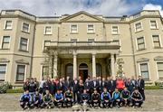 6 May 2014; Senior footballers and hurlers, with members of the Leinster GAA Council and guests, in attendance at the Launch of the leinster Senior Championships 2014. Farmleigh House, Dublin. Picture credit: Barry Cregg / SPORTSFILE
