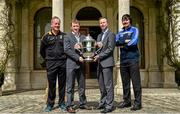 6 May 2014; Michael Dempsey, left, Killkenny hurling selector, Brian Whelehan, Offaly manager, Shane Martin, Dublin selector, and Seamus Plunkett, Laois manager, in attendance at the launch of the Leinster Senior Championships 2014. Farmleigh House, Dublin. Picture credit: Barry Cregg / SPORTSFILE