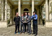 6 May 2014; Michael Dempsey, left, Killkenny hurling selector, Brian Whelehan, Offaly manager, John Horan, Chairman of the Leinster Council, Shane Martin, Dublin selector, and Seamus Plunkett, Laois manager, in attendance at the launch of the Leinster Senior Championships 2014. Farmleigh House, Dublin. Picture credit: Barry Cregg / SPORTSFILE