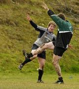 7 March 2006; Hooker Jerry Flannery, left, and lock Malcolm O'Kelly during Ireland rugby squad training. St. Gerard's School, Bray, Co. Wicklow. Picture credit: Ciara Lyster / SPORTSFILE