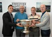 8 May 2014; Bernard Brogan Snr, second from left, and John Corcoran of the All-Ireland Football winning Dublin team of 1974 with current Dublin footballer Paul Flynn, left, and member of the All-Ireland Football winning Dublin team of 1995 Paul Clarke, right, at a 40th anniversary reception hosted by the Dublin Airport Authority. Dublin Airport, Dublin. Picture credit: Stephen McCarthy / SPORTSFILE