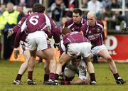 12 March 2006; Padraig O'Neill, Kildare, in action against, from left Damien Burke, partially hidden, Diarmuid Blake, 6, Kieran Fitzgerald, Matthew Clancy and Richie Fahey, Galway. Allianz National Football League, Division 1B, Round 4, Kildare v Galway, St. Conleth's Park, Newbridge, Co. Kildare. Picture credit: Pat Murphy / SPORTSFILE