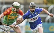 11 May 2014; Dwane Palmer, Laois, in action against Marty Kavanagh, Carlow. GAA All-Ireland Senior Hurling Championship Qualifier Group, Round 3, Laois v Carlow, O'Moore Park, Portlaoise, Co. Laois. Picture credit: David Maher / SPORTSFILE