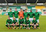 13 May 2014; The Republic of Ireland U19 team of, back row, from left, Sean Long,  Sean Heaney, Eric Grimes, Alex O' Hanlon, Noe Baba and Bobby Moseley; front row, from left, Sam Byrne, Dean O'Halloran, Thomas Mulroney, Jack Hallahan and Connor Dimaio. International Underage Friendly, Republic of Ireland U19 v Mexico U20, Tallaght Stadium, Tallaght, Co. Dublin. Picture credit: Piaras Ó Mídheach / SPORTSFILE