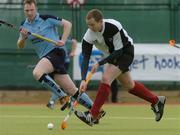 19 March 2006; Paul Lombard, Cork Harlequins, scores his side's second goal against Lisnagarvey. Irish Men's Senior Cup Final, Cork Harlequins v Lisnagarvey, Belfield, UCD, Dublin. Picture credit: Ciara Lyster / SPORTSFILE