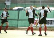 19 March 2006; John Hobbs, Cork Harlequins, celebrates scoring his side's second goal with team-mate John Aherne (8). Irish Men's Senior Cup Final, Cork Harlequins v Lisnagarvey, Belfield, UCD, Dublin. Picture credit: Brendan Moran / SPORTSFILE