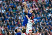 17 May 2014; Devon Toner, Leinster, win possession in the lineout ahead of Johann Muller, Ulster. Celtic League 2013/14 Play-off, Leinster v Ulster, RDS, Ballsbridge, Dublin. Picture credit: Ramsey Cardy / SPORTSFILE