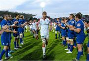 17 May 2014; Ulster captain Johann Muller is applauded from the pitch by Leinster players following his last appearance for Ulster. Celtic League 2013/14 Play-off, Leinster v Ulster, RDS, Ballsbridge, Dublin. Picture credit: Brendan Moran / SPORTSFILE