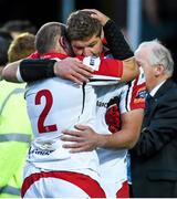 17 May 2014; Ulster's Rory Best, left, and captain Johann Muller after the match. Celtic League 2013/14 Play-off, Leinster v Ulster, RDS, Ballsbridge, Dublin. Picture credit: Ramsey Cardy / SPORTSFILE