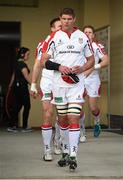 17 May 2014; Ulster captain Johann Muller leads his side out before the game. Celtic League 2013/14 Play-off, Leinster v Ulster, RDS, Ballsbridge, Dublin. Picture credit: Brendan Moran / SPORTSFILE