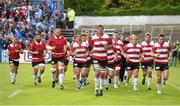 17 May 2014; Ulster captain Johann Muller leads his team off the pitch after their warm-up before the game. Celtic League 2013/14 Play-off, Leinster v Ulster, RDS, Ballsbridge, Dublin. Picture credit: Brendan Moran / SPORTSFILE