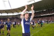 1 April 2006; Brian O'Driscoll, Leinster, celebrates after the game. Heineken Cup 2005-2006, Quarter-Final, Toulouse v Leinster, Le Stadium, Toulouse, France. Picture credit: Matt Browne / SPORTSFILE