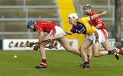 2 April 2006; Ciaran McGann, Cork, in action against Declan Ruth, Wexford. Allianz National Hurling League, Division 1A, Round 4, Wexford v Cork, Wexford Park, Wexford. Picture credit: Pat Murphy / SPORTSFILE
