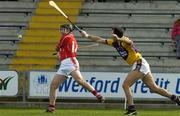 2 April 2006; Brian Corcoran, Cork, in action against Darragh Ryan, Wexford. Allianz National Hurling League, Division 1A, Round 4, Wexford v Cork, Wexford Park, Wexford. Picture credit: Pat Murphy / SPORTSFILE