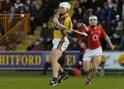 2 April 2006; David O'Connor, Wexford, in action against Kieran Murphy, Cork. Allianz National Hurling League, Division 1A, Round 4, Wexford v Cork, Wexford Park, Wexford. Picture credit: Pat Murphy / SPORTSFILE