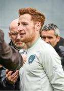 23 May 2014;  Republic of Ireland's Stephen Quinn, during a pitchside press briefing head of their 3 International Friendly against Turkey on Sunday May 25th. Republic of Ireland Press Conference, Gannon Park, Malahide, Co. Dublin. Picture credit: David Maher / SPORTSFILE