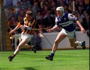 20 June 1999; Charlie Carter of Kilkenny in action against Darren Rooney of Laois during the Guinness Leinster Senior Hurling Championship Semi-Final match between Kilkenny and Laois at Croke Park in Dublin. Photo by Aoife Rice/Sportsfile