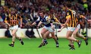 20 June 1999; Cyril Cuddy of Laois in action against, from left, Denis Byrne, Michael Kavanagh, Eamon Kennedy and Andy Comerford of Kilkenny during the Guinness Leinster Senior Hurling Championship Semi-Final match between Kilkenny and Laois at Croke Park in Dublin. Photo by Aoife Rice/Sportsfile