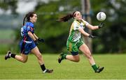 24 May 2014; Sinead Goldrick, Leinster, in action against Sarah Houlihan, Munster. 2014 MMI Group Ladies Football Interprovincial Tournament Shield Final, Leinster v Munster, Kinnegad, Co. Westmeath. Picture credit: Pat Murphy / SPORTSFILE