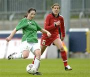 22 April 2006; Edel Malone, Republic of Ireland, in action against Flavia Schwarz, Switzerland. World Cup Qualifier, Republic of Ireland v Switzerland, Richmond Park, Dublin. Picture credit: Ray Lohan / SPORTSFILE