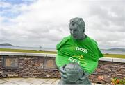 22 May 2014; A statue of former Kerry footballer Mick O'Dwyer in Waterville, Co. Kerry, during Stage 5 of the 2014 An Post Rás. Cahirciveen - Clonakilty.  Picture credit: Ramsey Cardy / SPORTSFILE