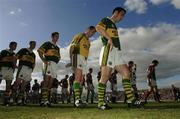 23 April 2006; Kerry captain Declan O'Sullivan leads his team during the parade. Allianz National Football League, Division 1 Final, Kerry v Galway, Gaelic Grounds, Limerick. Picture credit: David Maher / SPORTSFILE
