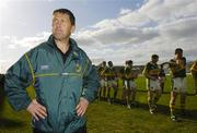 23 April 2006; Kerry manager Jack O'Connor stands as his team prepare for the parade. Allianz National Football League, Division 1 Final, Kerry v Galway, Gaelic Grounds, Limerick. Picture credit: David Maher / SPORTSFILE