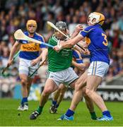 1 June 2014; Declan Hannon, Limerick, in action against Padraic Maher, Tipperary. Munster GAA Hurling Senior Championship, Semi-Final, Tipperary v Limerick, Semple Stadium, Thurles, Co. Tipperary. Picture credit: Ray McManus / SPORTSFILE