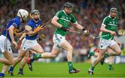 1 June 2014; Kevin Downes, Lmerick, in action against Michael Cahill, left, and Conor O'Mahony, Tipperary. Munster GAA Hurling Senior Championship, Semi-Final, Tipperary v Limerick, Semple Stadium, Thurles, Co. Tipperary. Picture credit: Ray McManus / SPORTSFILE