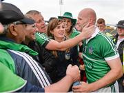 1 June 2014; James Ryan celebrates with Limerick supporters. Munster GAA Hurling Senior Championship, Semi-Final, Tipperary v Limerick, Semple Stadium, Thurles, Co. Tipperary. Picture credit: Ray McManus / SPORTSFILE