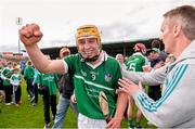 1 June 2014; Paul Browne celebrates with Limerick supporters. Munster GAA Hurling Senior Championship, Semi-Final, Tipperary v Limerick, Semple Stadium, Thurles, Co. Tipperary. Picture credit: Ray McManus / SPORTSFILE