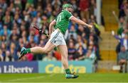1 June 2014; Shane Dowling, Limerick, celebrates after scoring his side's second goal. Munster GAA Hurling Senior Championship, Semi-Final, Tipperary v Limerick, Semple Stadium, Thurles, Co. Tipperary. Picture credit: Diarmuid Greene / SPORTSFILE