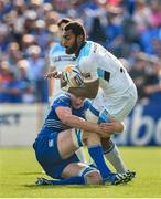 31 May 2014; Leone Nakarawa, Glasgow Warriors, is tackled by Devin Toner, Leinster. Celtic League 2013/14 Grand Final, Leinster v Glasgow Warriors, RDS, Ballsbridge, Dublin. Picture credit: Brendan Moran / SPORTSFILE