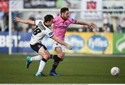 29 May 2016; Eric Molloy of Wexford Youths in action against Robbie Benson of Dundalk in the SSE Airtricity League Premier Division match between Dundalk and Wexford Youths at Oriel Park, Dundalk, Co. Louth. Photo by Paul Mohan/Sportsfile