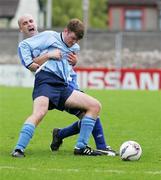 14 May 2006; Michaell Kiernan, Avondale United, is tackled by David Moynihan, Blarney United. FAI Carlsberg Intermediate Cup Final, Blarney United v Avondale United, Turners Cross, Cork. Picture credit; Kieran Clancy / SPORTSFILE