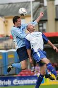 14 May 2006; Daniel Corkery, Blarney United, is tackled by Noel Hartigan, Avondale United. FAI Carlsberg Intermediate Cup Final, Blarney United v Avondale United, Turners Cross, Cork. Picture credit; Kieran Clancy / SPORTSFILE