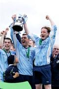 14 May 2006; Captain Robbie Giltinan, right, celebrate with Damien O'Connell and Andrew Knowles after victory. FAI Carlsberg Intermediate Cup Final, Blarney United v Avondale United, Turners Cross, Cork. Picture credit; Kieran Clancy / SPORTSFILE