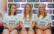3 June 2014; The Antrim girls who were named in the Division 4 Team of the Year. From left, Claire Timoney,  Mairéad Cooper and Áine Tubridy during the 2014 TESCO HomeGrown Ladies National Football Team of the League Presentations. Croke Park, Dublin. Picture credit: Barry Cregg / SPORTSFILE