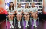 3 June 2014; The Cork girls who made it into the Division 1 Team of the Year. Annie Walsh, left, Angela Walsh, Briege Corkery and Bríd Stack during the 2014 TESCO HomeGrown Ladies National Football Team of the League Presentations. Croke Park, Dublin. Picture credit: Barry Cregg / SPORTSFILE