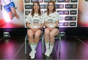 3 June 2014; The Kerry girls who made it into the Division 1 Team of the Year. Cáit Lynch, left, and Denise Hallissey during the 2014 TESCO HomeGrown Ladies National Football Team of the League Presentations. Croke Park, Dublin. Picture credit: Barry Cregg / SPORTSFILE