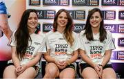 3 June 2014; The Dublin girls who made it into the Division 1 Team of the Year. Sinéad Goldrick, left, Noelle Healy and Lyndsey Davey during the 2014 TESCO HomeGrown Ladies National Football Team of the League Presentations. Croke Park, Dublin. Picture credit: Barry Cregg / SPORTSFILE