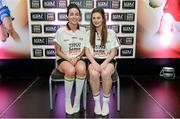 3 June 2014; The Meath girls who made it into the Division 2 Team of the Year. Katie O'Brien, left, and Emma Troy during the 2014 TESCO HomeGrown Ladies National Football Team of the League Presentations. Croke Park, Dublin. Picture credit: Barry Cregg / SPORTSFILE