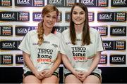 3 June 2014; The Louth girls who made it into the Division 4 Team of the Year. Grace Lynch, left, and Michelle McMahon during the 2014 TESCO HomeGrown Ladies National Football Team of the League Presentations. Croke Park, Dublin. Picture credit: Barry Cregg / SPORTSFILE