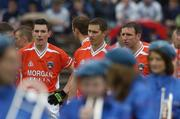 14 May 2006; Armagh's Andy Mallen, Tony McEntee and Enda McNulty wait to walk behind the St Michael's CBS Band. Bank of Ireland Ulster Senior Football Championship, Round 1, Armagh v Monaghan, St. Tighernach's Park, Clones, Co. Monaghan. Picture credit; Damien Eagers / SPORTSFILE