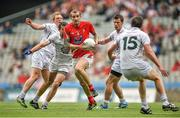 8 June 2014; Paddy Keenan, Louth, in action against, from left, Keith Cribbin, Pádraig O'Neill, Emmet Bolton and Paddy Brophy, Kildare. Leinster GAA Football Senior Championship, Quarter-Final, Louth v Kildare, Croke Park, Dublin.  Picture credit: Brendan Moran / SPORTSFILE